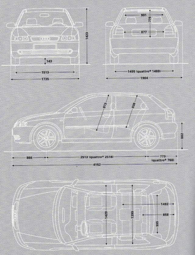 Floh 180 S A3 Seite Abmessungen Audi A3 8l