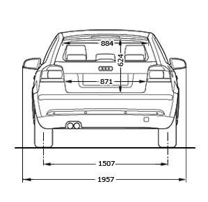 Floh 180 S A3 Seite Abmessungen Audi A3 8p 8pa